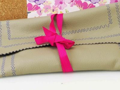 DIY Tasche nähen aus Leder | Nähen für Anfänger | Nähmaschinen Ideen
