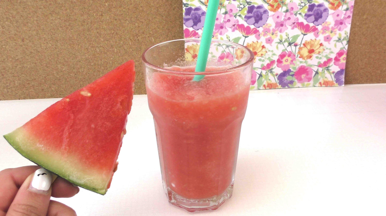 Eis Slushy selber machen ohne Maschine - Wassermelonen Slushie