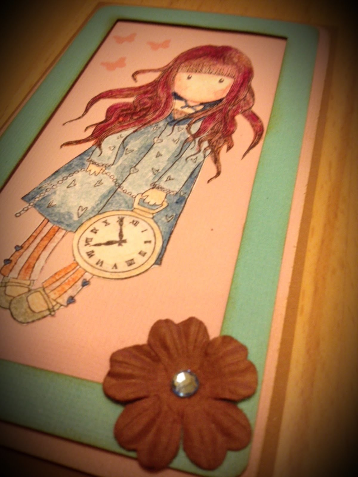Watch me craft mit Gorjuss Stempel