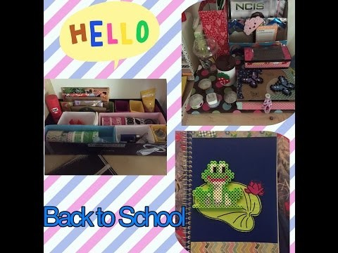 [DIY] 3 Back to School Ideas - Desk Organizer - Notizbuch neu gestalten
