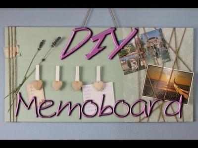 Memoboard selber machen - DIY Deko Ideen für zu Hause. fürs Zimmer - Geschenkideen - deutsch