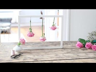 Rosen im Rahmen | Rosen trocknen | DIY