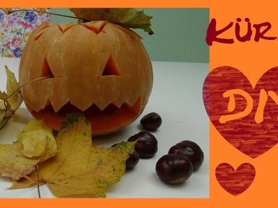DIY HALLOWEEN Kürbis schnitzen Anleitung Gesicht Deko - How to make Halloween Pumpkins scare
