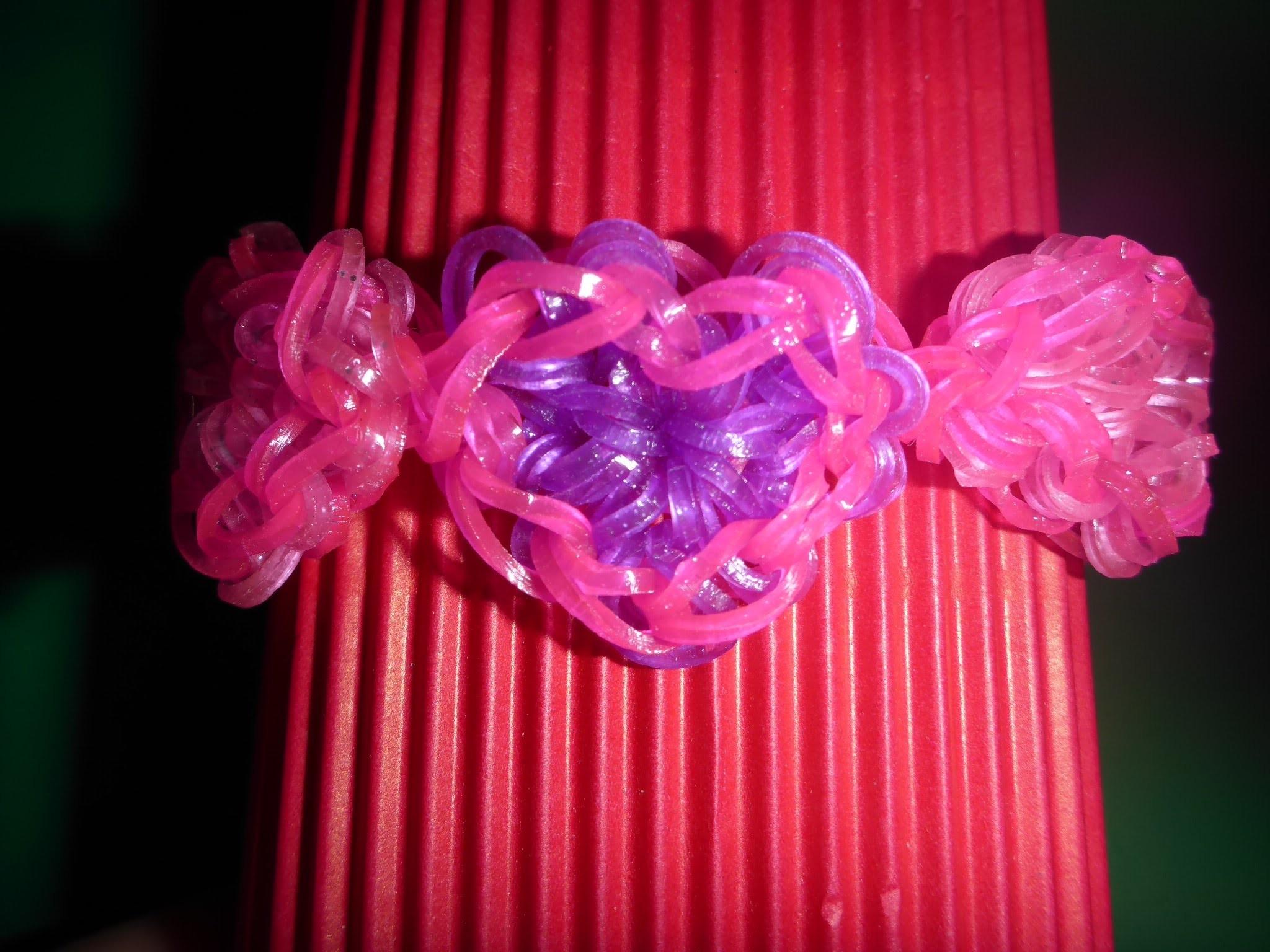 Loom Bands Armband Herz, Geschenk zum Valentinstag, Muttertag  Anleitung