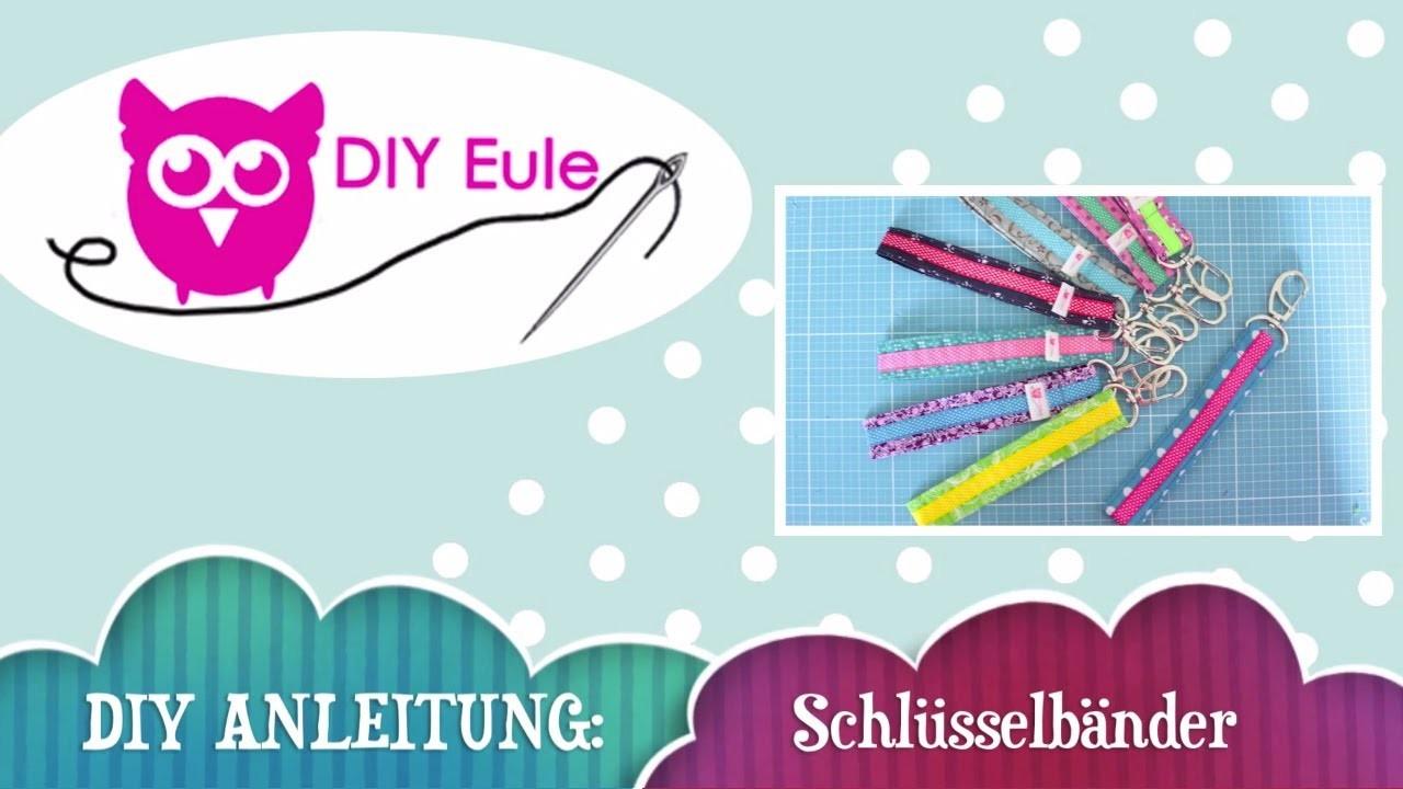 DIY Eule: Anleitung Schlüsselband selber nähen