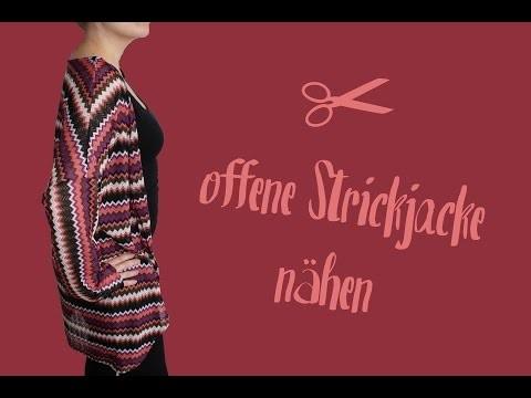 Offene Strickjacke | Cardigan nähen - DIY Tutorial | Nähanleitung + Schnittmuster