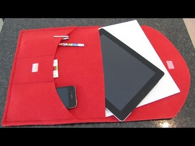 DIY: Pad Case Clutch selbst nähen - kleine Aktentasche nur 3 Nähte für Nähanfänger geeignet