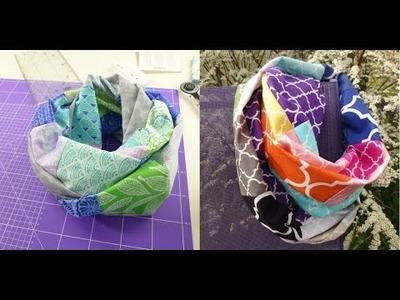 DIY Patchwork-Loop LOOPI selber nähen