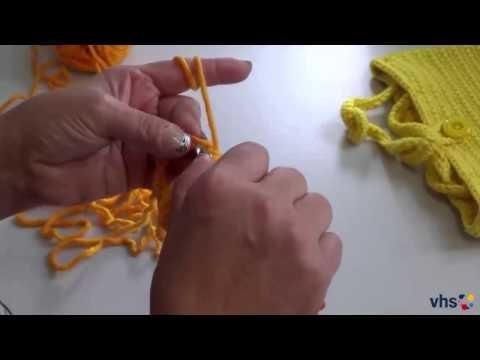 VhsStrickMooc - Tutorial 5 live aus dem virtuellen Klassenzimmer: An den Arm gehäkelt - Handtasche