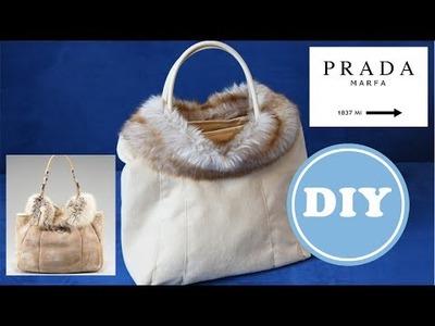 Fell -  Handtasche selbst nähen | DIY | Wie Prada Montone Shearling with Fox Trim