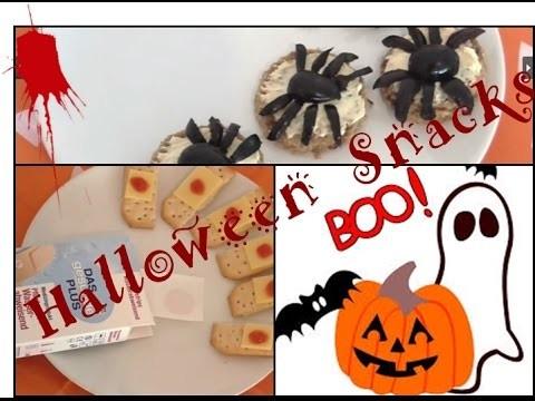 DIY- 3 super einfache HALLOWEEN Snacks unter 5 Minuten!!!