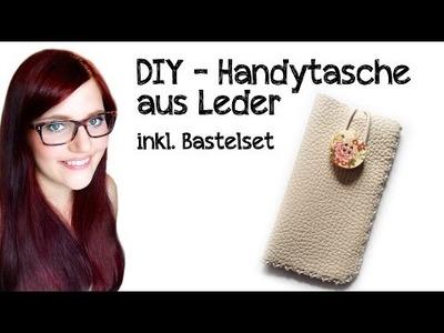 DIY - Handytasche aus Leder (ohne Nähmaschine)
