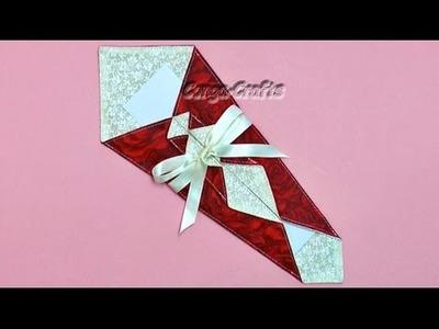 DIY - Noshi Geschenkumschlag nähen + Papierhülle