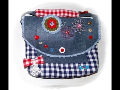 Käthes Nähstunde DIY. Upcycling Kindergartentasche Nähen für Anfänger