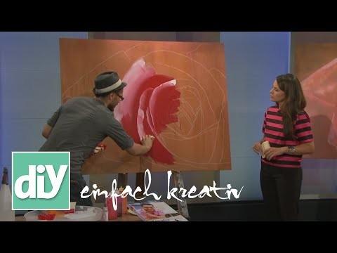 Bild mit Rosen selber malen | DIY einfach kreativ