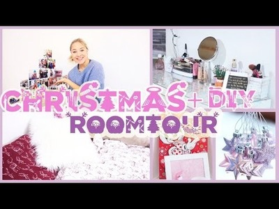 CHRISTMAS ROOM TOUR, BEDROOM TOUR + DIY DECORATION