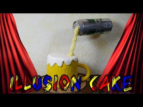 DIY BIER TORTE  Illusion Torte Motivtorte Torte dekorieren mit Fondant Vatertag