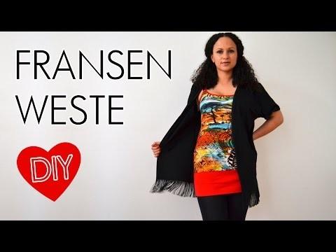 DIY Upcycling T-Shirt mit Fransen - Hippie Boho Fransenweste selbst machen - Aus alt mach neu