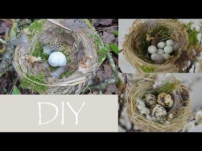 DIY - Voglenest aus Naturmaterial.bezaubernde Frühlings- und Osterdeko