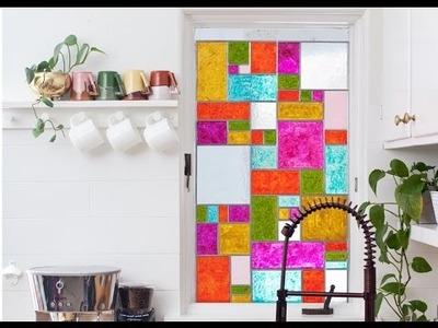 Fenster dekorieren. Küche deko selber machen. Ideen. Diy Fenster.