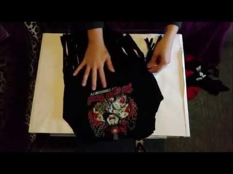 #001 - DIY Upcycling - Vom T-Shirt zum Top + zur Tasche mit Fransen