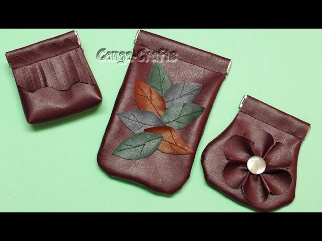 DIY – Schnappverschlusstasche aus Kunstleder + Schnitt erstellen - snap bag