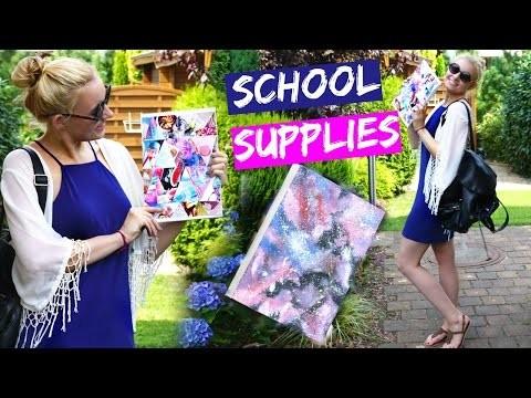 DIY TUMBLR INSPIRED SCHOOL SUPPLIES! Galaxy Print Notebook & .