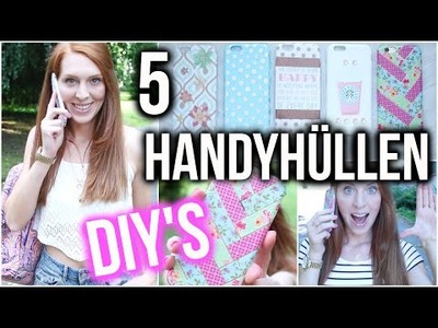 5 EASY DIY HANDYHÜLLEN | Starbucks, Tumblr, Washi Tape Muster, Punkte
