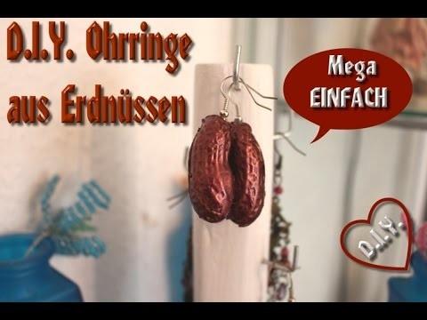 *** DIY Ohrringe aus Erdnüssen - mit Tini ***
