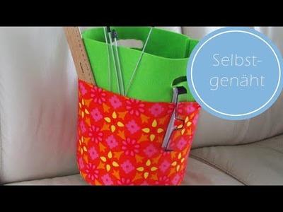 DIY: Utensilo aus Filz mit Stofftaschen selbst nähen | für Nähanfänger geeignet