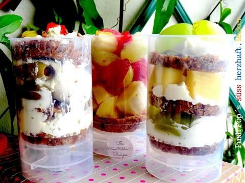 Push Pop´s.  DIY eine herzhaft, fruchtig & leckere  Snack Idee . .