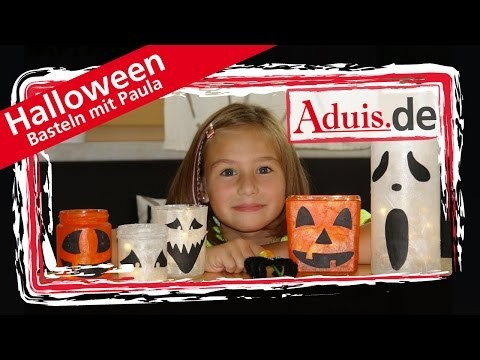 Halloween Deko Basteln mit Kindern DIY Anleitung