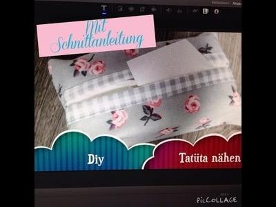 Tatüta Taschentuchtasche selber nähen Diy mit Schnittanleitung