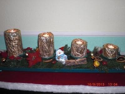 Beton giessen - DIY - Adventskranz  - Kerzen aus Beton