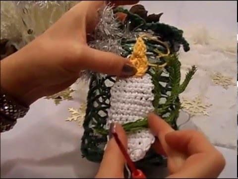 DIY:keka Windlicht Kerze HÄKELN ,Marmeladen Glas häkeln -GESCHENK IDEE ; UPSYCLING