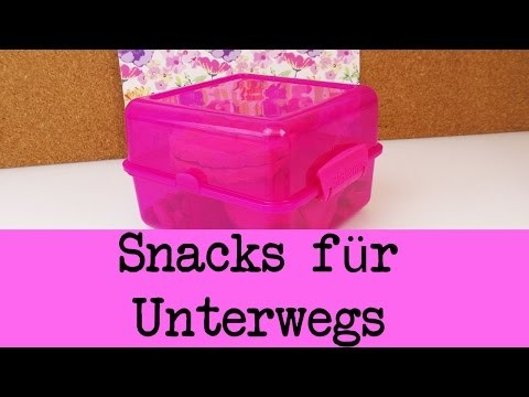 DIY Inspiration Challenge #40 Snacks für unterwegs | Evas Challenge | Tutorial - Do it yourself