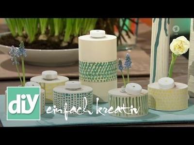 Aus Kassenrollen werden Vasen   DIY einfach kreativ