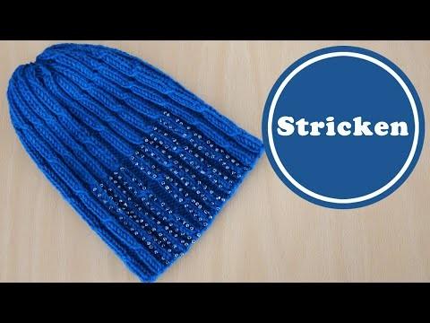 Beanie stricken und besticken | DIY | stricken für Anfänger