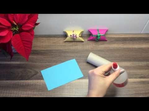 DIY Geschenkverpackung basteln mit Dingen die man im Haushalt hat, für Weihnachten oder Geburtstag