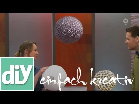 Gefaltete Papierlampe | DIY einfach kreativ