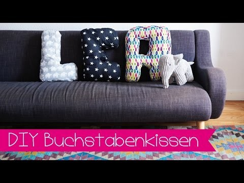 Kissen mit Buchstaben ganz einfach selber nähen I Stoffe.de I DIY I KINNERTiED #41