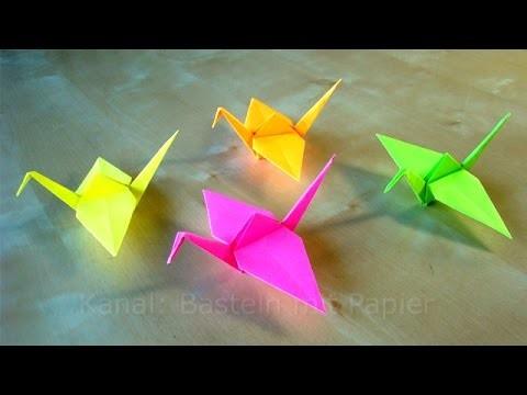 Origami: Kranich falten - Basteln mit Kindern - Bastelideen - DIY Anleitung