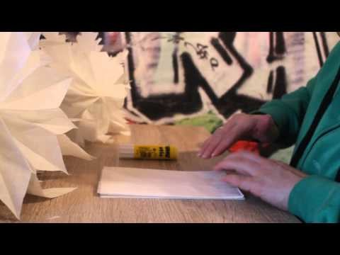 Papierstern aus Frühstückstüten Papierstern basteln Anleitung Weihnachtsstern bastel, DIY