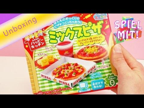 Asiatische Süßigkeiten - DIY Mini Pizza selber machen - Bastelset Unboxing | Popin' Cookin Pizza