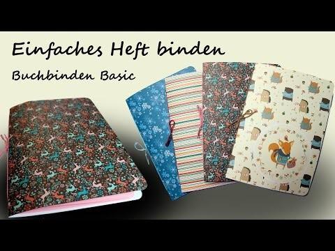 DIY Basics - Buchbinden für Anfänger: Einfaches Heft binden | kreativBUNT