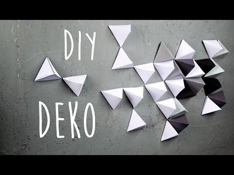 Geometrische Wand Dekoration aus Papier DIY