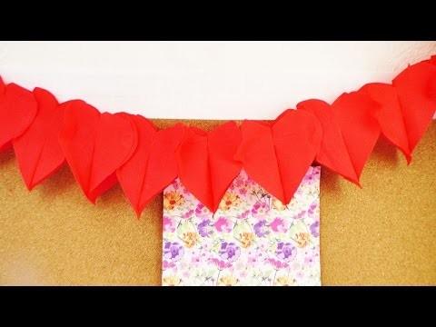 Herzgirlande selber machen für Valentinstag | Geburtstagsdeko für eine Party | DIY einfach & schnell