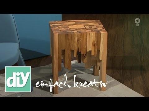 Holzhocker aus Kanthölzern | DIY einfach kreativ