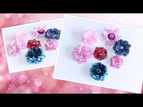 Stoffblumen [DIY] [Tutorial]