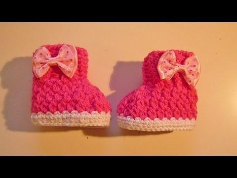 Babyboots häkeln - Babyschuhe - crochet - Boots - Schuhe - Baby - Babysocke